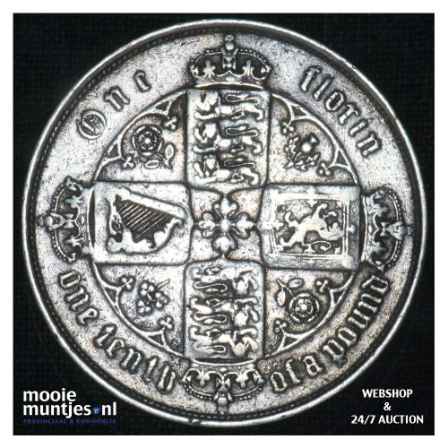 florin (two shillings) - Great Britain 1866 (MDCCCLXVI) (KM 746.3) (kant B)