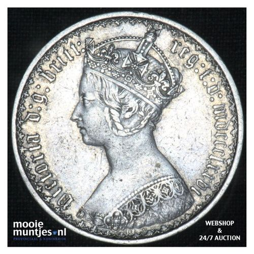 florin (two shillings) - Great Britain 1876 (MDCCCLXXVI) (KM 746.2) (kant A)