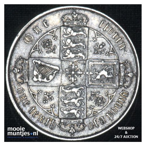 florin (two shillings) - Great Britain 1876 (MDCCCLXXVI) (KM 746.2) (kant B)