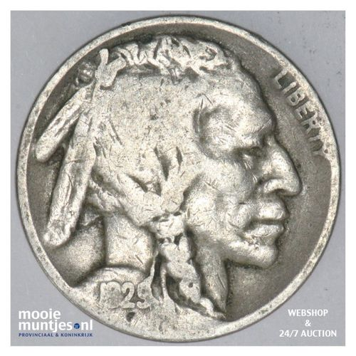 5 cents - buffalo nickel -  - United States of America 1929 D (KM 134) (kant A)
