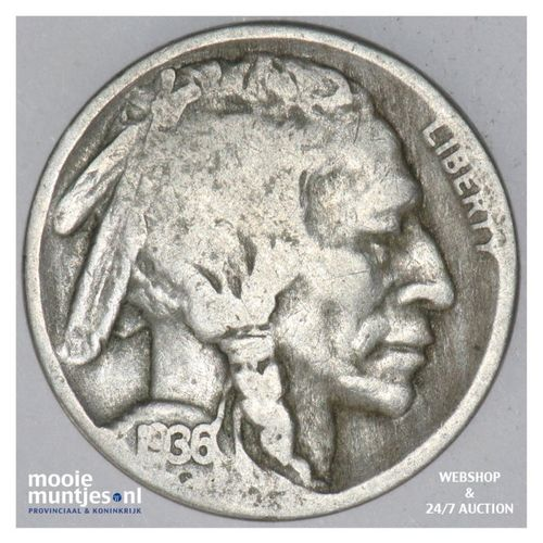 5 cents - buffalo nickel -  - United States of America 1936 S (KM 134) (kant A)