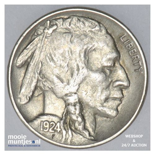 5 cents - buffalo nickel -  - United States of America 1924 (KM 134) (kant A)