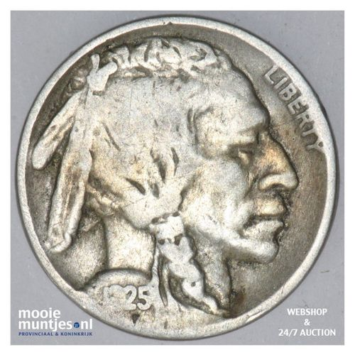5 cents - buffalo nickel -  - United States of America 1925 (KM 134) (kant A)
