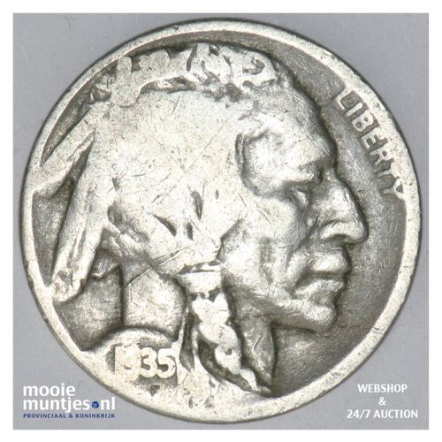 5 cents - buffalo nickel -  - United States of America 1935 D (KM 134) (kant A)