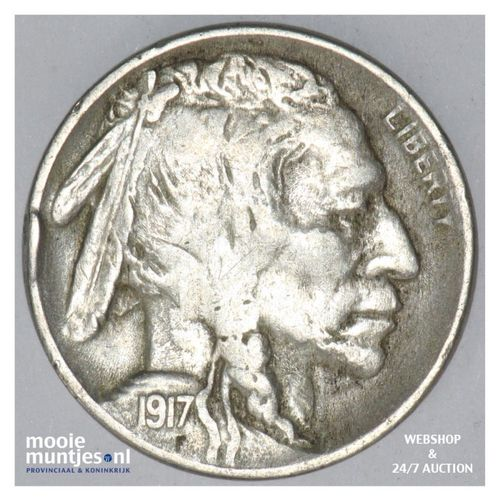 5 cents - buffalo nickel -  - United States of America 1917 (KM 134) (kant A)