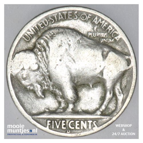5 cents - buffalo nickel -  - United States of America 1936 D  (KM 134) (kant B)