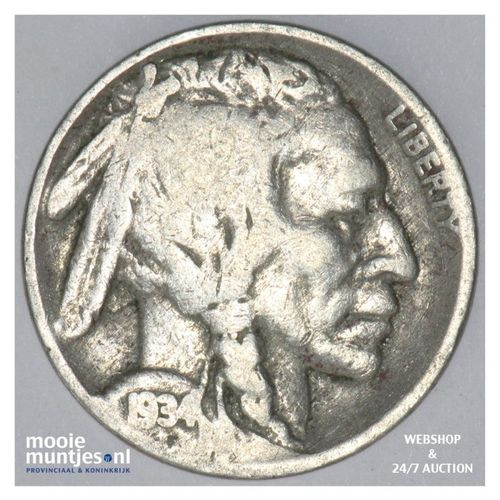 5 cents - buffalo nickel -  - United States of America 1934 (KM 134) (kant A)