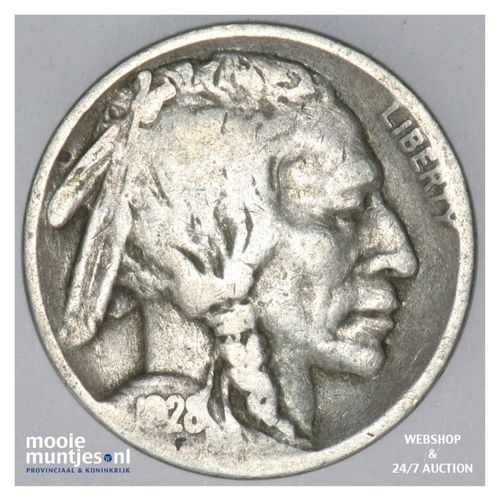 5 cents - buffalo nickel -  - United States of America 1928 S (KM 134) (kant A)