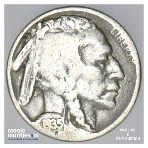 5 cents - buffalo nickel -  - United States of America 1935 S (KM 134) (kant A)