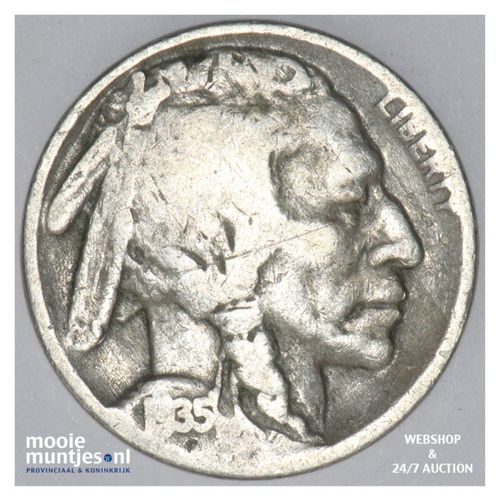 5 cents - buffalo nickel -  - United States of America 1935 (KM 134) (kant A)