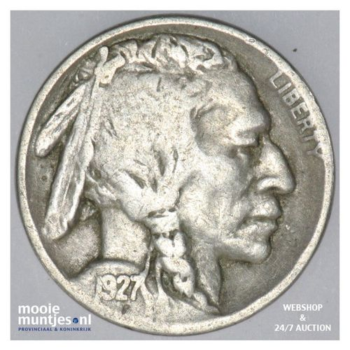 5 cents - buffalo nickel -  - United States of America 1927 (KM 134) (kant A)