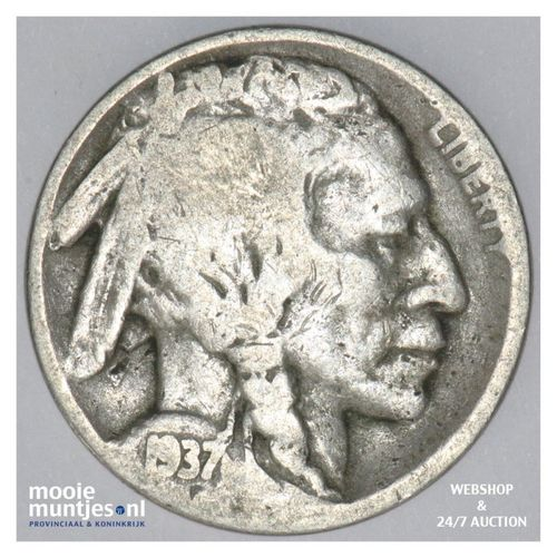 5 cents - buffalo nickel -  - United States of America 1937 D (KM 134) (kant A)