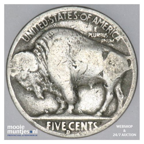 5 cents - buffalo nickel -  - United States of America 1937 D (KM 134) (kant B)