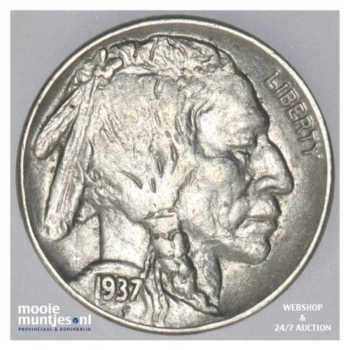 5 cents - buffalo nickel -  - United States of America 1937 (KM 134) (kant A)