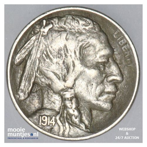 5 cents - buffalo nickel -  - United States of America 1914 (KM 134) (kant A)