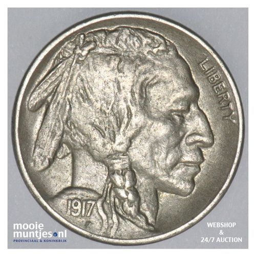 5 cents - buffalo nickel -  - United States of America 1917 S (KM 134) (kant A)