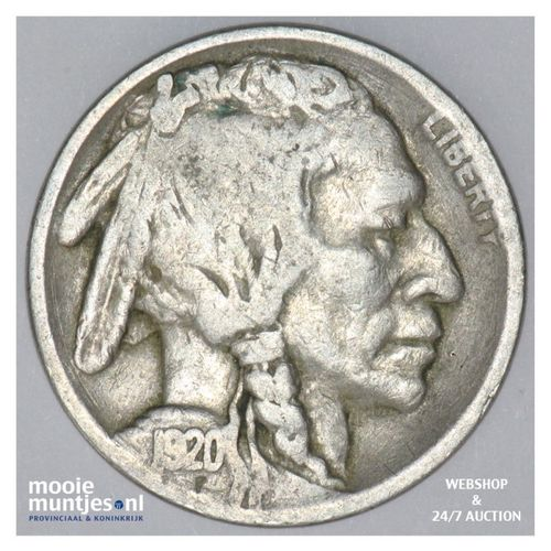 5 cents - buffalo nickel -  - United States of America 1920 (KM 134) (kant A)