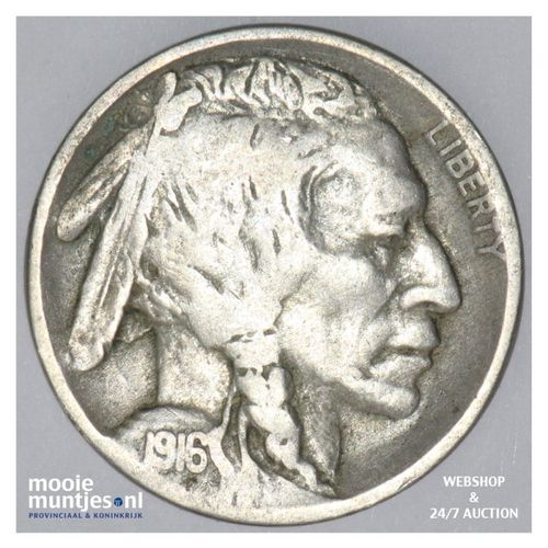 5 cents - buffalo nickel -  - United States of America 1916 (KM 134) (kant A)