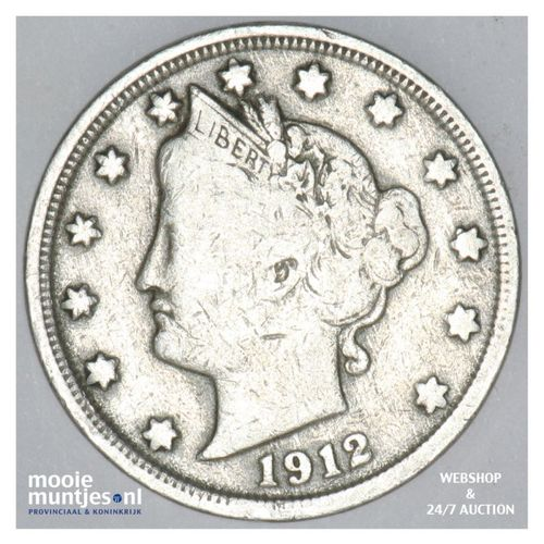 5 cents - liberty nickel -  - United States of America 1912 (KM 112) (kant A)