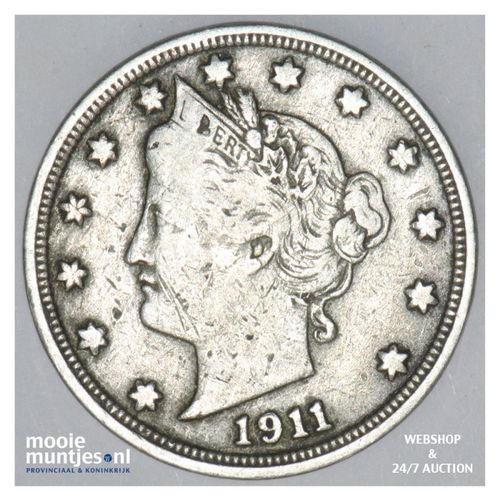 5 cents - liberty nickel -  - United States of America 1911 (KM 112) (kant A)