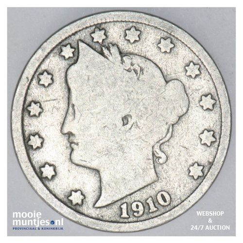 5 cents - liberty nickel -  - United States of America 1910 (KM 112) (kant A)