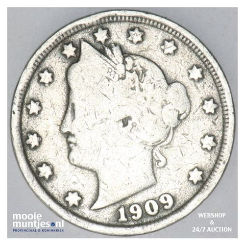 5 cents - liberty nickel -  - United States of America 1909 (KM 112) (kant A)