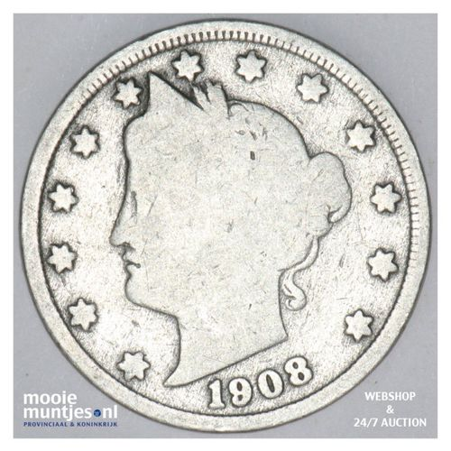 5 cents - liberty nickel -  - United States of America 1908 (KM 112) (kant A)