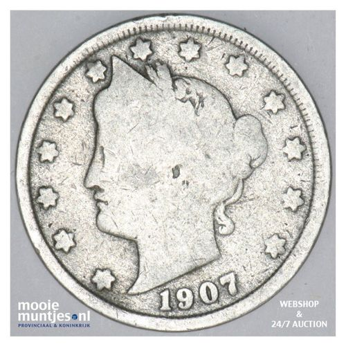 5 cents - liberty nickel -  - United States of America 1907 (KM 112) (kant A)