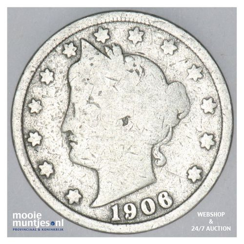 5 cents - liberty nickel -  - United States of America 1906 (KM 112) (kant A)