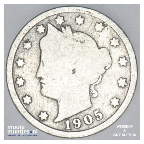 5 cents - liberty nickel -  - United States of America 1905 (KM 112) (kant A)