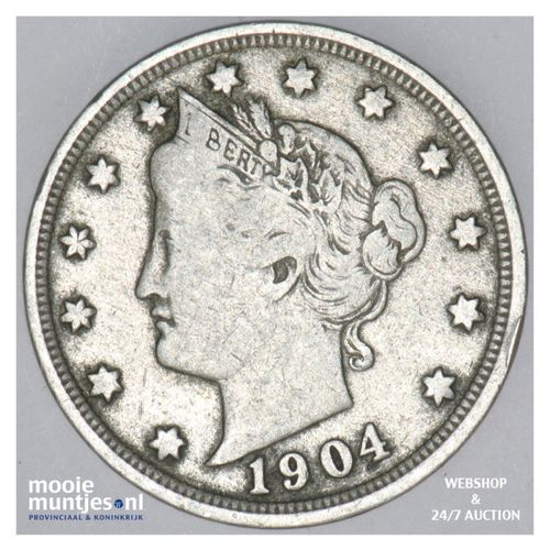 5 cents - liberty nickel -  - United States of America 1904 (KM 112) (kant A)