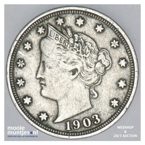 5 cents - liberty nickel -  - United States of America 1903 (KM 112) (kant A)