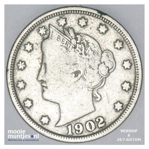 5 cents - liberty nickel -  - United States of America 1902 (KM 112) (kant A)