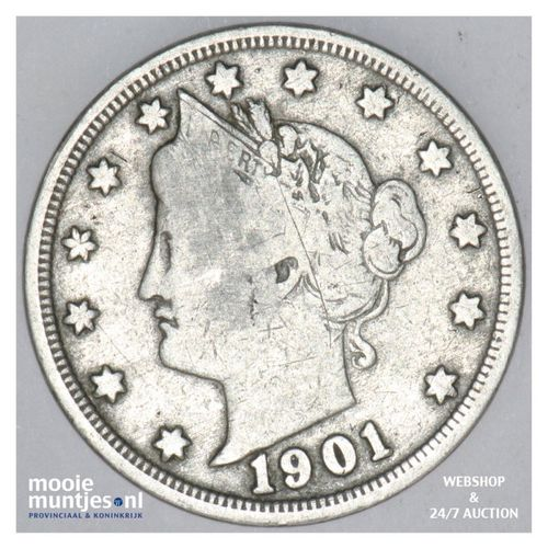 5 cents - liberty nickel -  - United States of America 1901 (KM 112) (kant A)