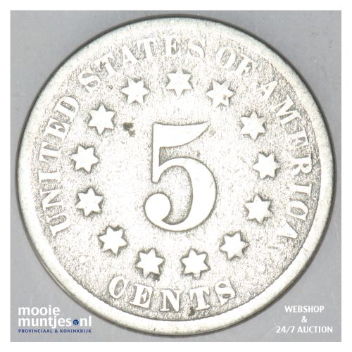 5 cents - shield nickel -  - United States of America/Circulation coinage 1872 (