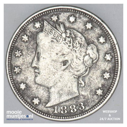 5 cents - liberty nickel -  - United States of America/Circulation coinage 1883
