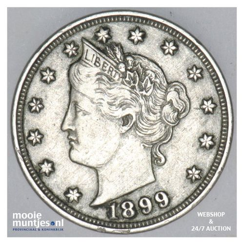 5 cents - liberty nickel -  - United States of America/Circulation coinage 1899