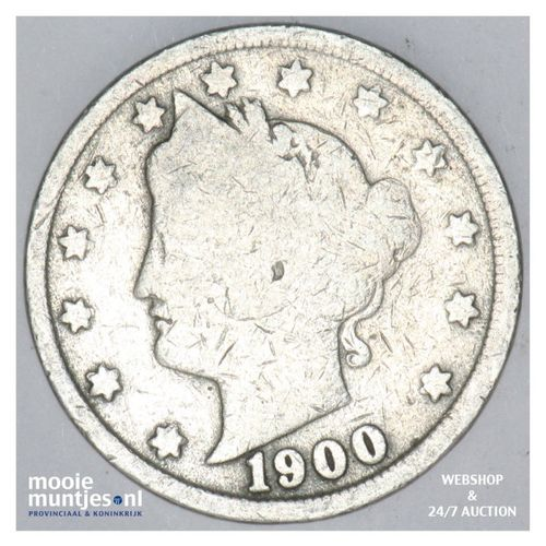 5 cents - liberty nickel -  - United States of America/Circulation coinage 1900