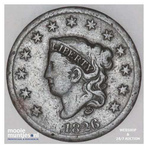 cent - coronet -  - United States of America/Circulation coinage 1826 (KM 45) (k