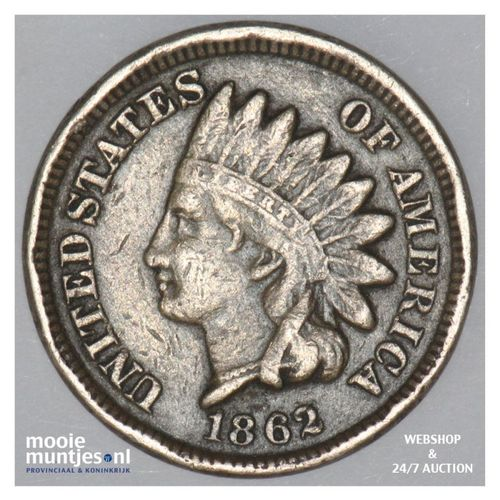 cent - indian head -  - United States of America/Circulation coinage 1862 (KM 90