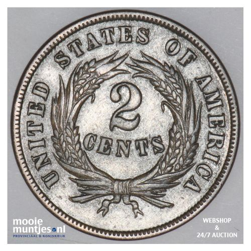 2 cents -  - United States of America/Circulation coinage 1869 (KM 94) (kant B)