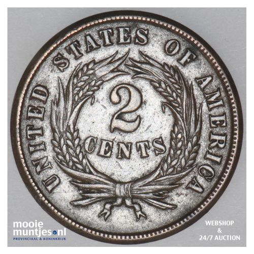 2 cents -  - United States of America/Circulation coinage 1864 (large motto) (KM