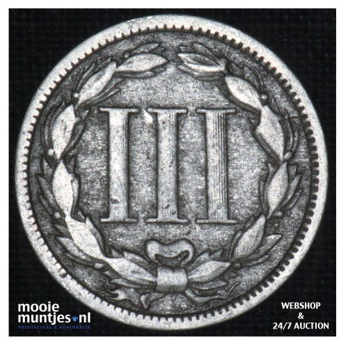 nickel 3 cents -  - United States of America/Circulation coinage 1870 (KM 95) (k