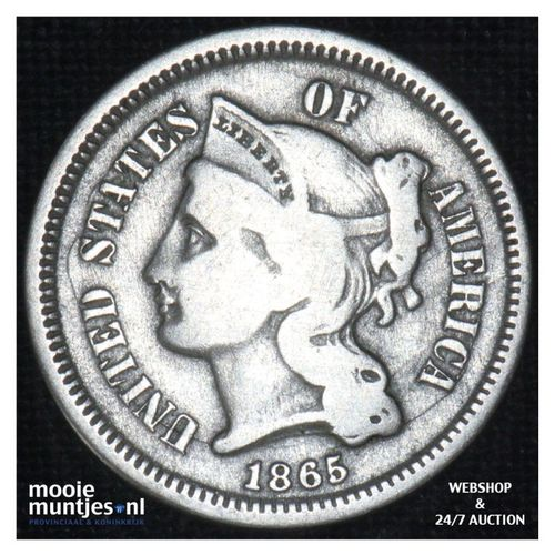 nickel 3 cents -  - United States of America/Circulation coinage 1865 (KM 95) (k