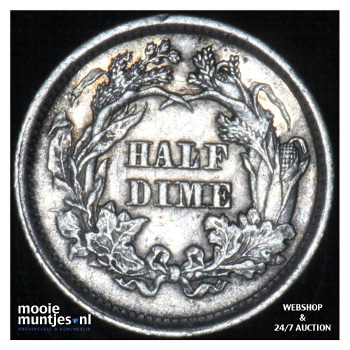 half dime - seated liberty -  - United States of America/Circulation coinage 186