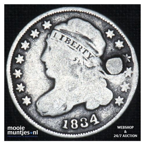 dime - liberty cap -  - United States of America/Circulation coinage 1834 (large