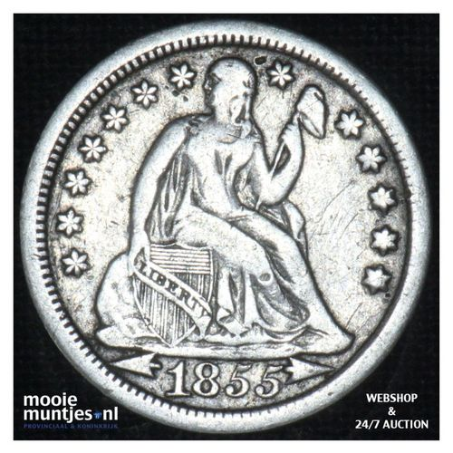 dime - seated liberty -  - United States of America/Circulation coinage 1855 (KM