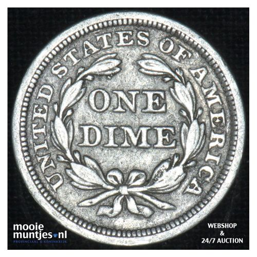 dime - seated liberty -  - United States of America/Circulation coinage 1857 (KM