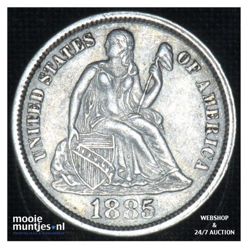 dime - seated liberty -  - United States of America/Circulation coinage 1885 (KM