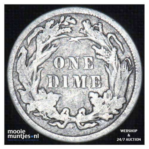 dime - seated liberty -  - United States of America/Circulation coinage 1887 (KM